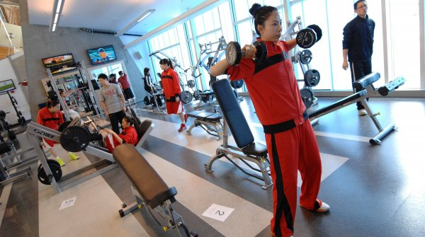 Fitness is getting more and more popular in China