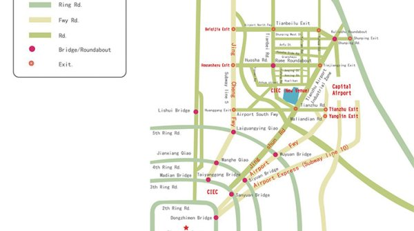 Beijing Metro Map New Venue