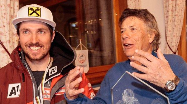 Peter Schröcksnadel (r.) mit Österreichs größtem Skistar Marcel Hirscher