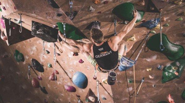 Chris Hanke beim Klettern