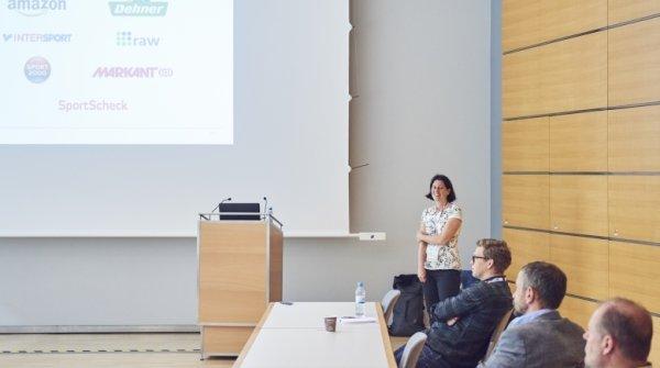 Nicoley Espey stellt das BSI Sport Clearing Center auf der ISPO Digitize vor.