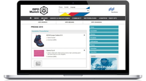 ISPO Munich Website