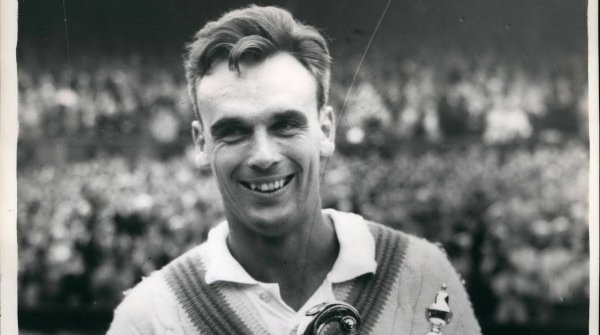 Tennis legend Vic Seixas at the Wimbledon triumph of 1960.