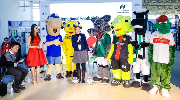 A total of seven Bundesliga clubs were represented at ISPO Beijing 2019.