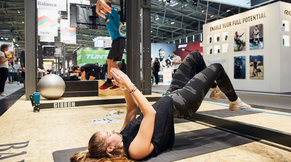 Action im Health&Fitness-Bereich in Halle A6.