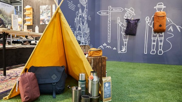 Camping gear at outdoor lifestyle area