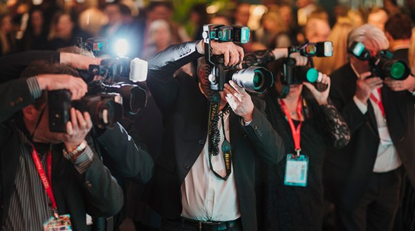 Photographers at an event