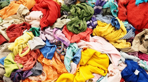 Garments are diverted from landfill using the Worn Again process.