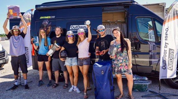 Teilnehmer der Campervan Challenge bei den OutDays