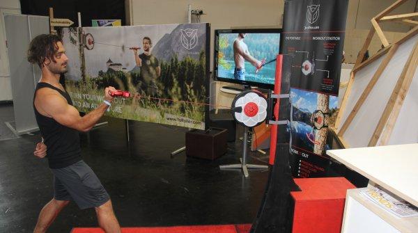 Der Yo-Roller ist eine tragbare Trainingsstation aus Österreich.