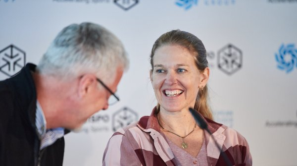 Antje von Dewitz at the EOG Press conference at ISPO Munich 2020