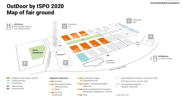 Hallenplan OutDoor by ISPO 2020
