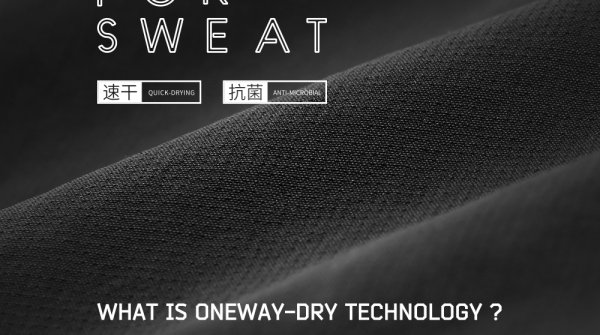 A kind of advanced fabric with High-Tech Wicking and Quick Dry by Physical Performance.