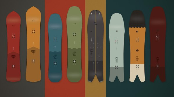 Snowboards by K2 in the Enjoyers collection