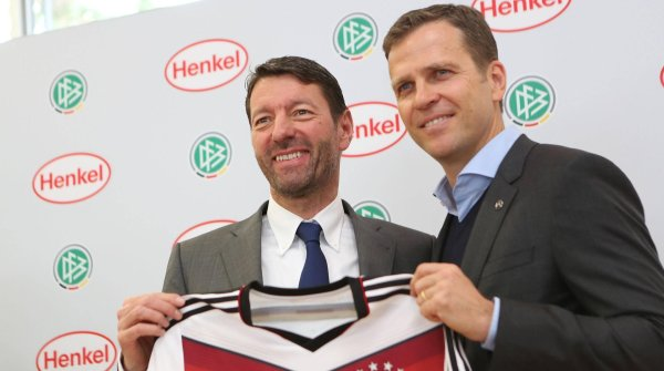 Kasper Rorsted and Oliver Bierhoff.