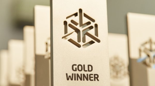 That is how the GOLD WINNER AWARD looks like