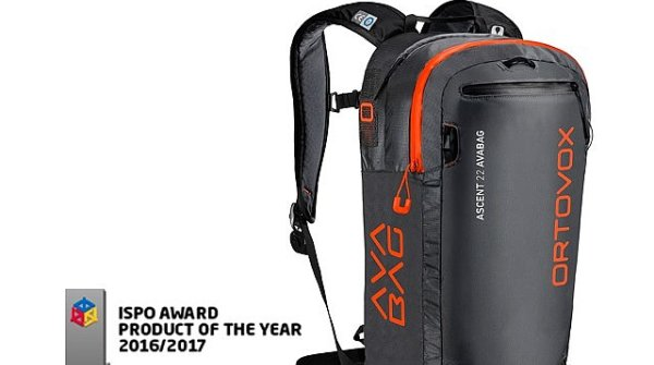 The Avabag by Ortovox, PRODUCT OF THE YEAR ISPO AWARD