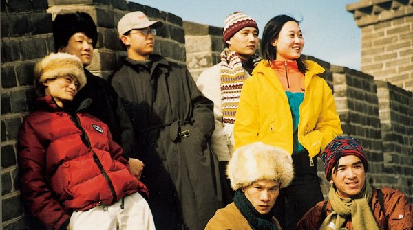 They were young and wild – a bunch of students, here on top of the Great Wall, took the first steps to build the Alibaba online empire in the late 1990s. One of them, Jack Ma (left), steers the group to this day.