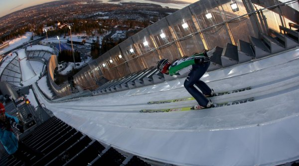 Will two kickoff jumps soon take place here for a new Four Hill Tournament? Holmenkollen in Norway's capital city, Oslo.