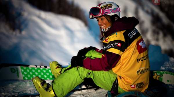 One of the most successful female freeriders: Austrian Eva Walkner, who even worked as a sports journalist.
