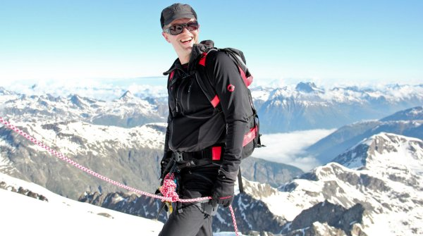 Rolf Schmid – here on an alpine tour in 2013 – was CEO of Mammut since 1996.
