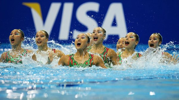 "Always largely represented, already at the qualifiers for synchronized swimming before the Olympics: Visa is a ""Worldwide Olympic Partner."""