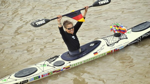 It's done: Freya Hoffmeister becomes the first person to kayak around South America.