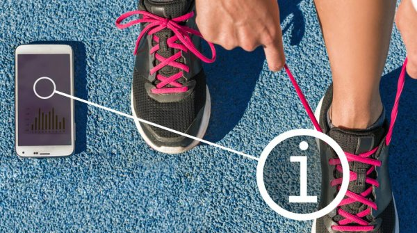 Sport shoes with NFC-Tag can provide the athlete with information – quick and uncomplicated.