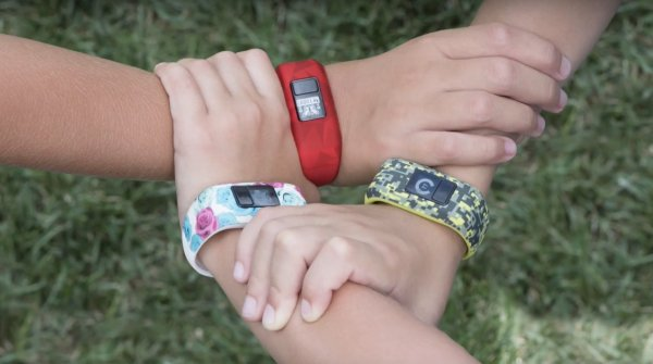 "The fitness tracker ""motivates kids to get moving"", says Garmin."