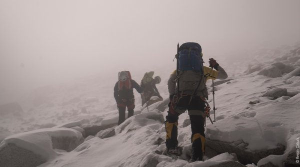 """I overestimated our team"", says Mark Jenkins about the North-Face-expedition."