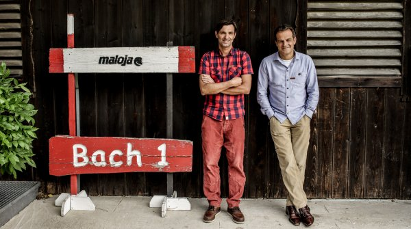 Peter Räuber (right) and Klaus Haas have made Maloja into one of the fastest growing sports fashion companies around.