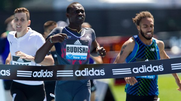 Outfitter and main sponsor: Adidas is campaigning here at the Diamond League meeting in New York.