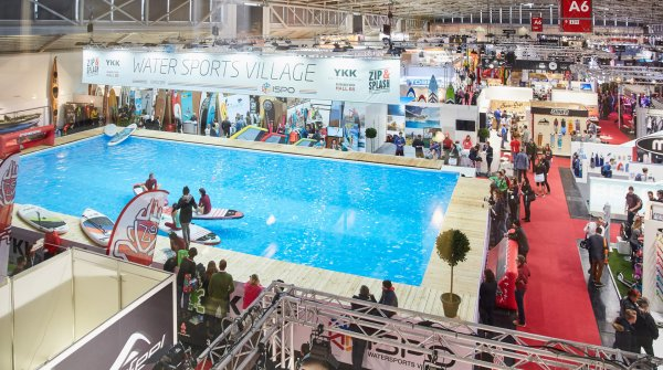 The pool at ISPO MUNICH's Water Sports Village measures 200 square meters.