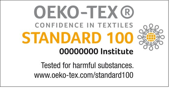 Standard 100 by OEKO-TEX was developed to review and recognize products for their health safety.