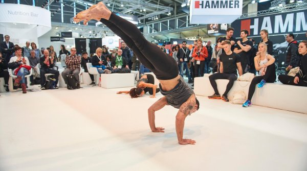 Melayne and Cameron Shayne perform Budokon on the Health & Fitness stage at ISPO MUNICH 2017.