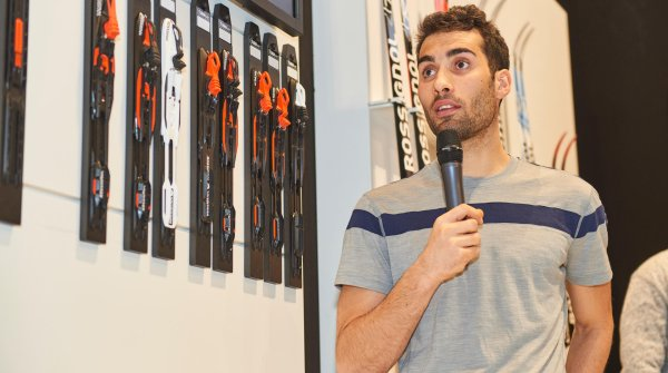 The ten-time biathlon world champion Martin Fourcade attended ISPO MUNICH for the first time this year.