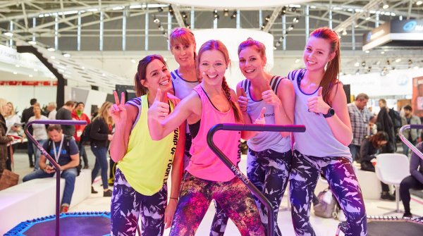 High spirits in the Health & Fitness hall (B4) – caught on camera by our ISPO photographer.