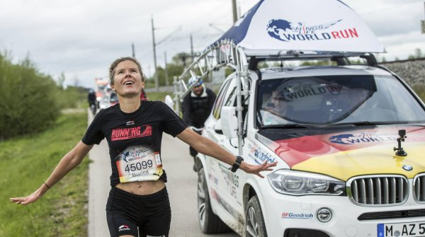 Exakt 51,2 km lief Bianca Meyer beim Wings for Life World Run in München.