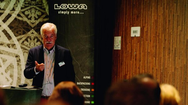Lowa produces a total of 2.5 million shoes per year, CEO Werner Riethmann tells.