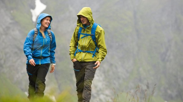The Eidfjord jacket in an outdoor test.