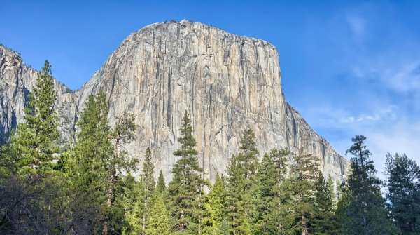 The south-west face of El Capitan is famous among climbers: Alex Honnold conquered the sheer face in less than four hours – and without safety equipment.