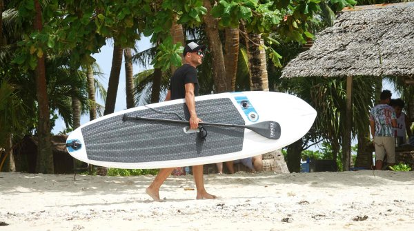 Tripstix's SUP boards are inflatable and therefore easy to transport.