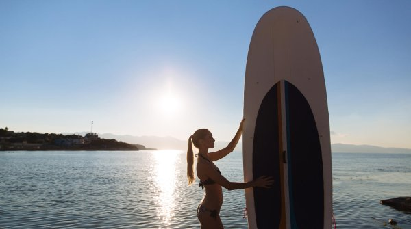 The right SUP board: equipment for beginners may be somewhat larger.