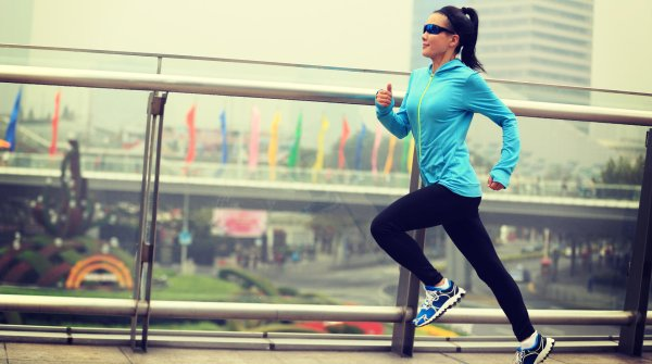 Woman symbolically runs towards trademark rights