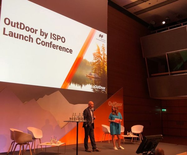 Messe München CEO Klaus Dittrich speaks at the Outdoor by ISPO Launch Conference