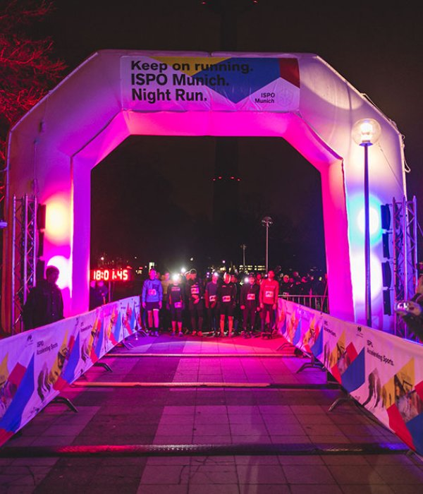 Runners waiting at start of Night Run