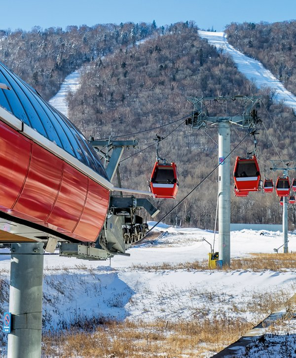Yabuli Ski Resort with cable car in China