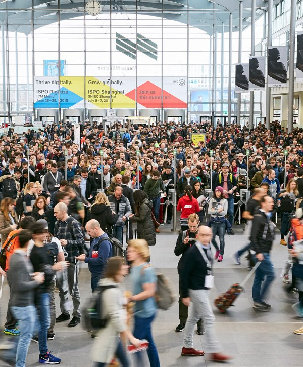 Entrance hall at ISPO Munich
