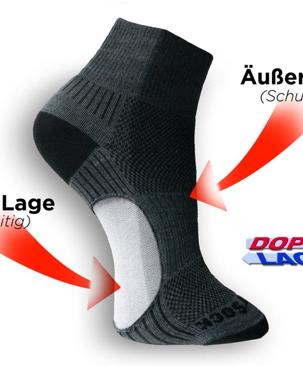 WRIGHTSOCK – double-layer hiking sock