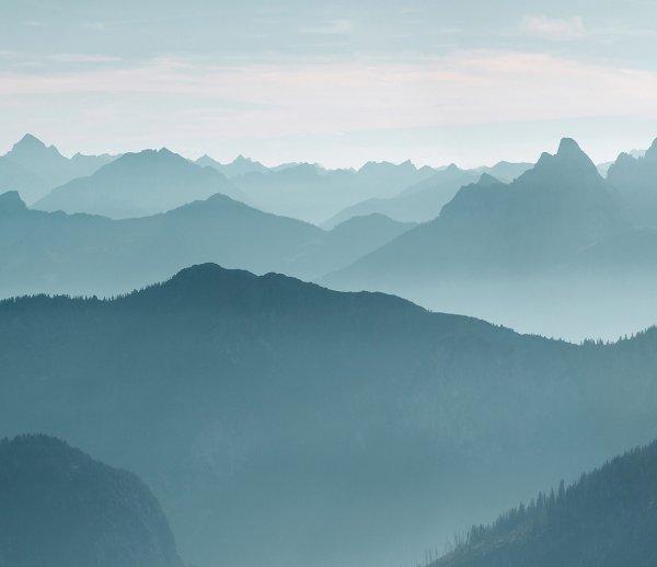 Outdoor Mountain Chain Fog
